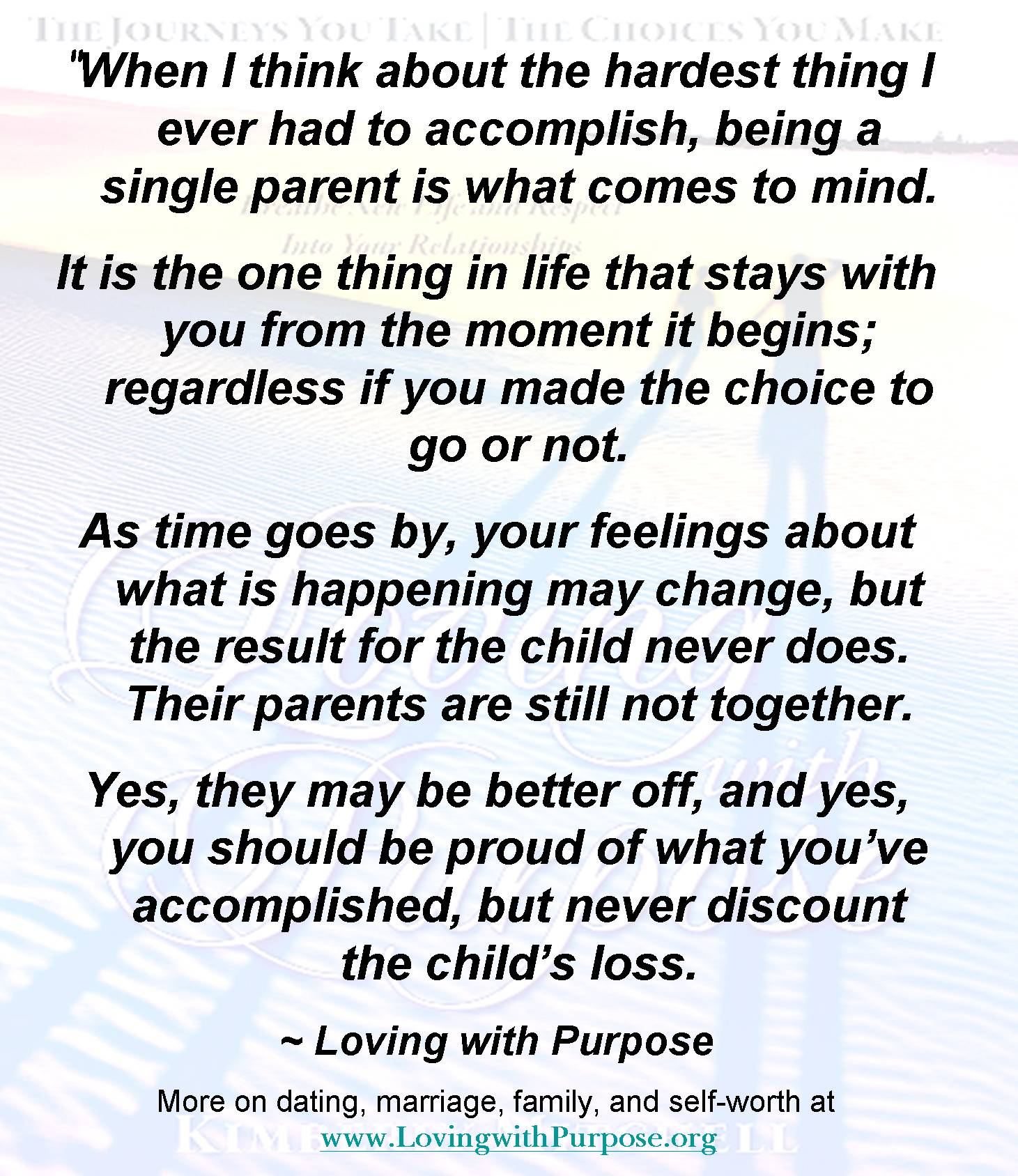 The single parent challenge loving with purpose click here to ccuart Image collections