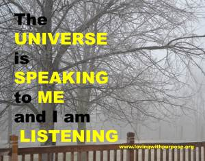 Universe speaks